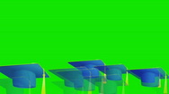 Stock Video Footage of graduation cap on Green Screen