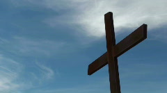Religious Cross Time Lapse Stock Footage