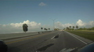 The Courtney Campbell Causeway Stock Footage