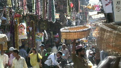 Busy Crawford Market, Mumbai, India Asia Stock Footage