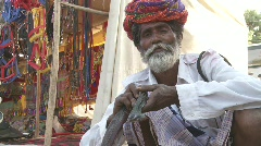 Snake charmer in India Stock Footage