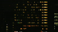 Office Building At Night with Artistic Blur - stock footage