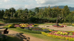 Thailand: Royal Gardens in Chaing Rai Provence Stock Footage