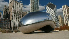 Chicago Cloud Gate No People HD - stock footage