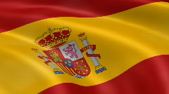 Spain FlagInTheWind Stock Footage