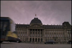 Royal Palace Brussels - stock footage
