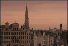 Brussels cityscape - stock footage