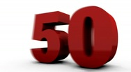 Stock Video Footage of Fifty Percent Off (50%off). Red. HD.