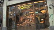 Stock Video Footage of European Storefront2