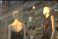 European Window Display Stock Footage