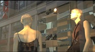 Stock Video Footage of European Window Display