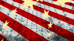 Patriotic Grunge Looping Background Stock Footage