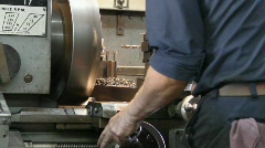 Machinest Boring metal Stock Footage