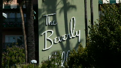Beverly Hills Hotel HD Stock Footage