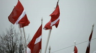 Stock Video Footage of Latvian flags