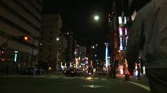 Tokyo Street 24 At Night Stock Footage