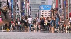 Ginza Tokyo Street during the Golden Week in 2010 26 Stock Footage