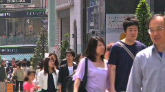 Ginza Tokyo Street during the Golden Week in 2010 32 Stock Footage