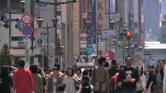 Ginza Tokyo Street during the Golden Week in 2010 31 Stock Footage