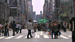 Ginza Tokyo Street during the Golden Week in 2010 30 Stock Footage