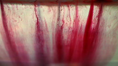 Red Ink Blots Stock Footage