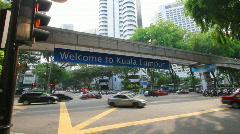 Kuala lumpur monorail Stock Footage
