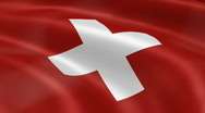 Stock Video Footage of Switzerland FlagInTheWind