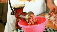 Meat grinding Stock Footage