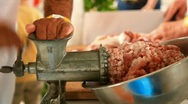 Stock Video Footage of Meat grinding