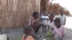 Sudan: Children in a IDP Camp Stock Footage