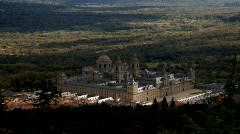 Spain. Madrid. Monastery. Monasterio del Escorial Stock Footage