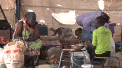 Sudan: Women in a IDP Camp Stock Footage