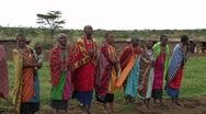 Stock Video Footage of Kenya: Massai Women Sing