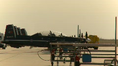 Military, line of Harvard-II trainer aircraft Stock Footage