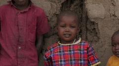 Kenya: Massai Children Stock Footage