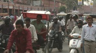 Traffic at jaipur city Stock Footage