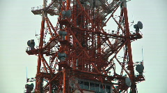 TV Broadcast Tower Middle Par t02 Stock Footage