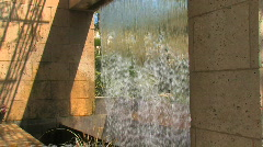 GardenWaterfallWide.1080.PJ Stock Footage