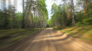 Forest road Stock Footage