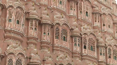 Hawa Mahal in Jaipur Stock Footage