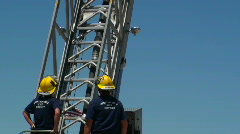 Firefighter Ladder Demonstration Editorial Stock Footage