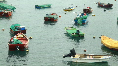 Little fishing boats Stock Footage