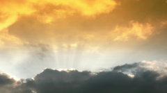 orange heaven time lapse - stock footage