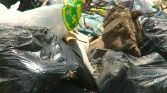 the environment, garbage dump, #36 zoom from pit - stock footage