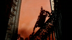 Spain, Madrid, Church gate in shadows Stock Footage