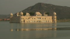 Jal Mahal Palace Jaipur in India Stock Footage