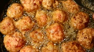 Meat balls cooking Stock Footage