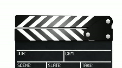 Clapperboard with alpha - 2 parts Stock Footage