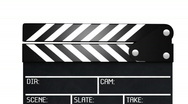 Stock Video Footage of Clapperboard with alpha - 2 parts