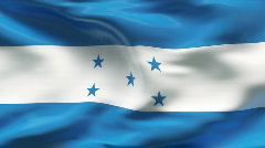 Creased HONDURAS flag in wind - slow motion - stock footage